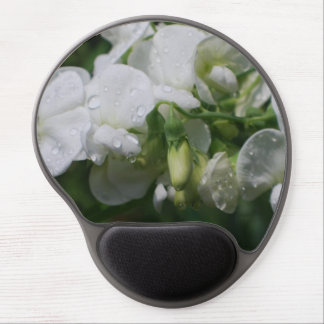 Pretty White Sweet Pea Flowers Gel Mouse Pad