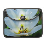 Pretty White Tulips Sleeves For MacBook Pro