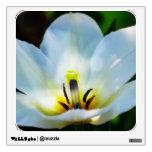 Pretty White Tulips Wall Stickers