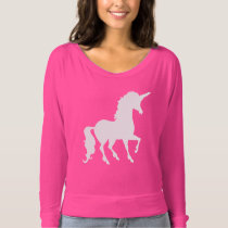 Pretty White Unicorn Silhouette Fun Trendy T-shirt