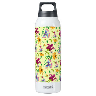 Pretty Wild Flowers Floral Pattern 16 Oz Insulated SIGG Thermos Water Bottle