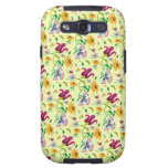 Pretty Wild Flowers Floral Pattern Galaxy S3 Cases