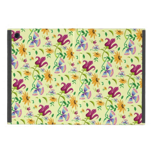 Pretty Wild Flowers Floral Pattern iPad Mini Cover