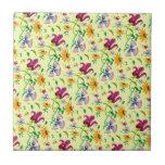 Pretty Wild Flowers Floral Pattern Tiles