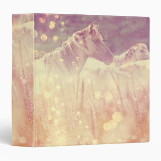 Pretty Wild Mustang Gold Sparkles Horse Binder