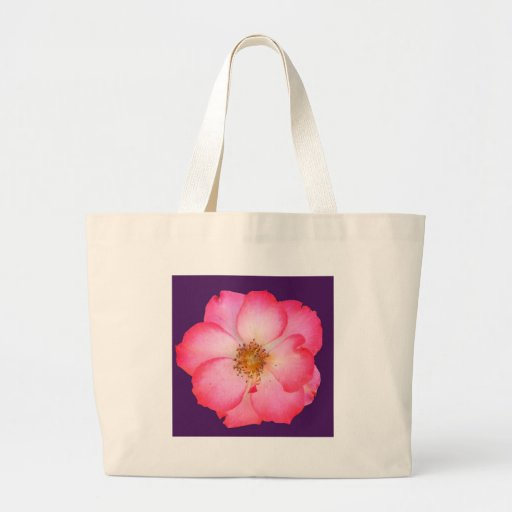Pretty Wild Pink Rose Tote Bag