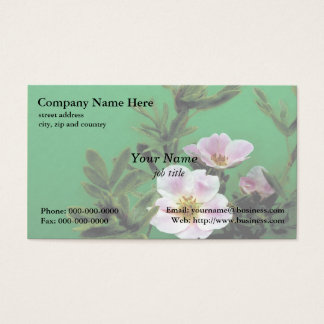 pretty wild rose flowers business card