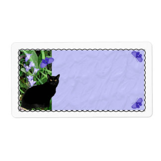 Pretty Wildflowers and Cat Shipping Labels