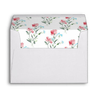 Pretty Wildflowers | Floral Lined Envelope
