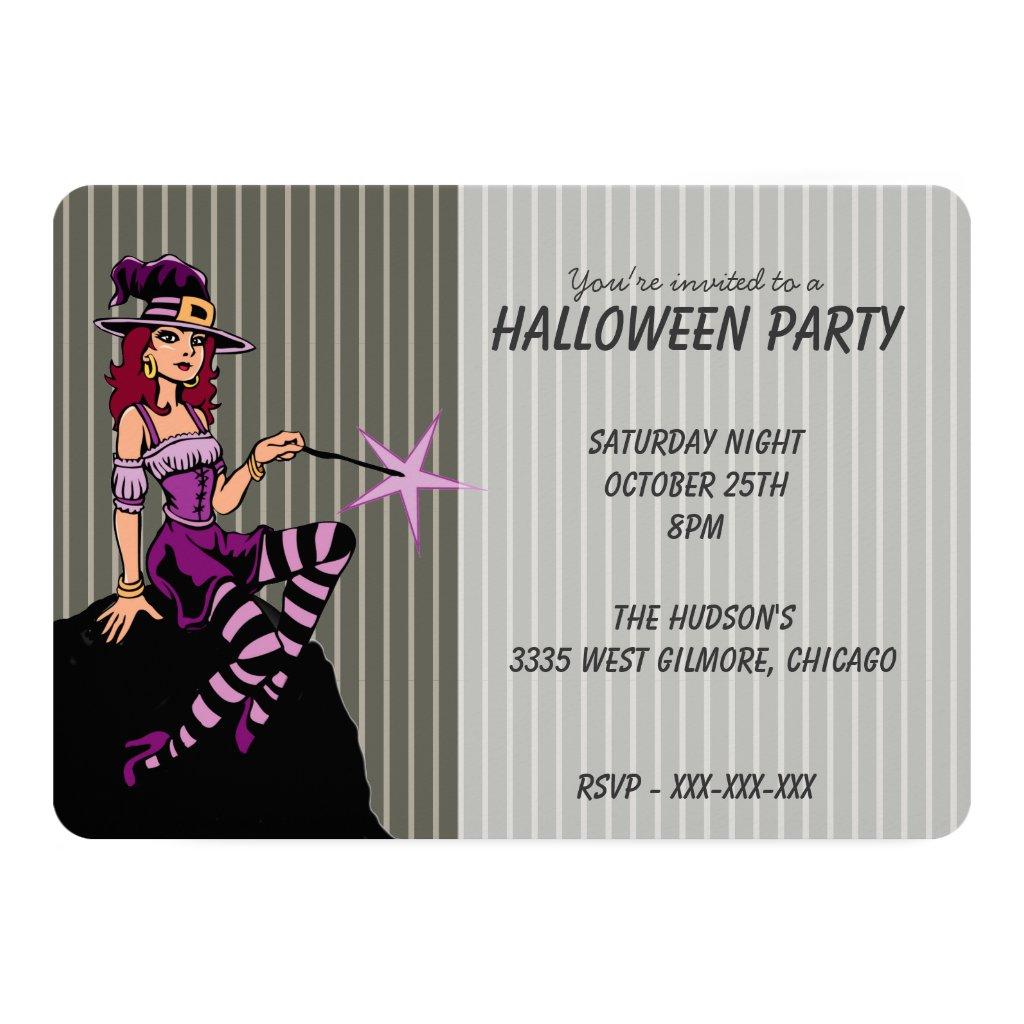 Pretty Witch in Purple Card