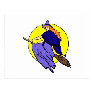 Pretty witch postcard