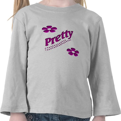 pretty with flowers tees