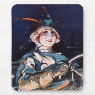 Pretty Woman Driving, 1920s Mouse Pad