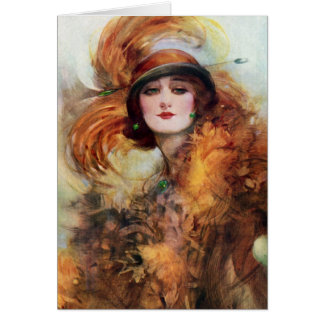 Pretty Woman Flapper Fashion 1920s Greeting Cards