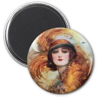 Pretty Woman Flapper Fashion 1920s Magnet