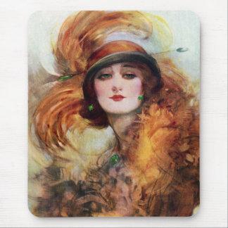 Pretty Woman Flapper Fashion 1920s Mouse Pad