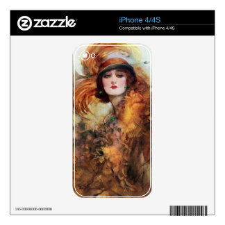 Pretty Woman Flapper Fashion 1920s Skin For iPhone 4