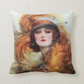 Pretty Woman Flapper Fashion 1920s Throw Pillow