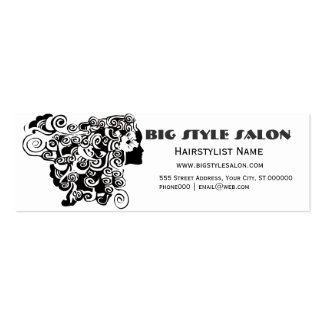 Pretty Woman Long Waves Hair Beauty Salon Business Card Template