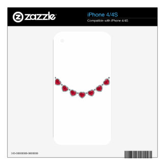 Pretty Woman Ruby Necklace Decal For iPhone 4