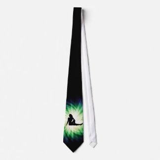 Pretty Woman Silhouette Neck Tie