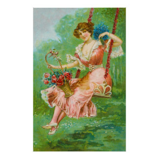 Pretty Woman Victorian Fashion Poster