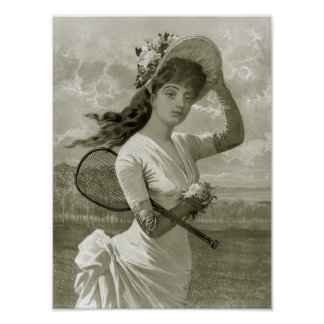 Pretty Woman With Tennis Racket, 1887 Poster