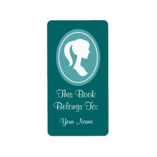 Pretty Womens Silhouette Bookplates Stickers Gift Label