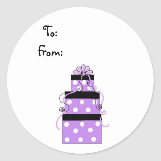 Pretty Wrapped Purple Packages Stickers