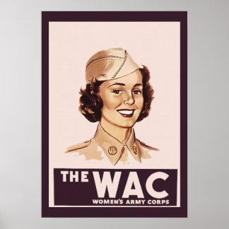 Pretty WWII WAC Poster