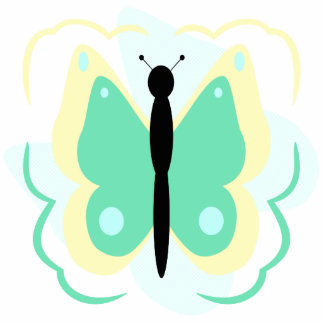 Pretty Yellow And Green Butterfly Ornament