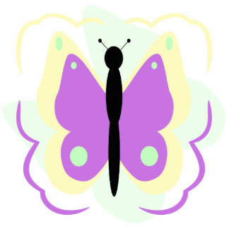 Pretty Yellow And Purple Butterfly Ornament