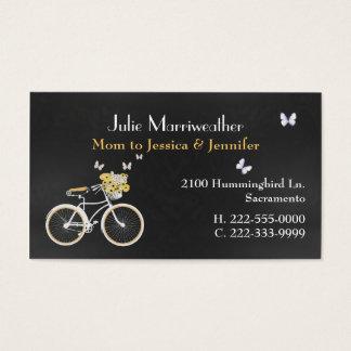 Pretty Yellow Bicycle Custom Mommy Card
