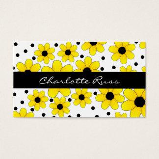 Pretty Yellow & Black Flowers Mommy Card