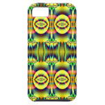 Pretty yellow blue circle abstract iPhone 5 cases