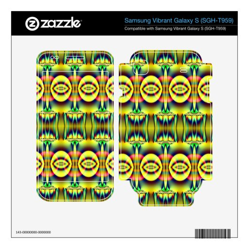 Pretty yellow blue circle abstract samsung vibrant decal