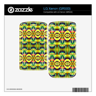 Pretty yellow blue circle abstract decals for LG xenon