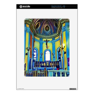 Pretty Yellow Blue Vibrant Church Altar iPad Decals