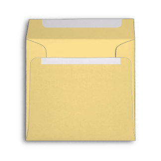 Pretty Yellow Butter Lemon Shade Of Light Yellow Envelopes