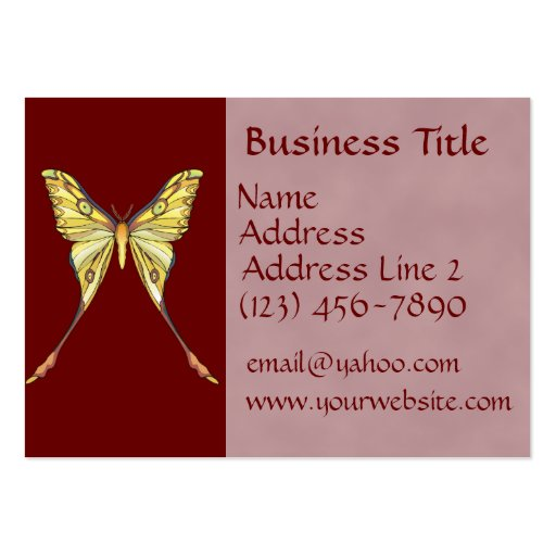 Pretty yellow butterfly business cards zazzle for Butterfly business cards