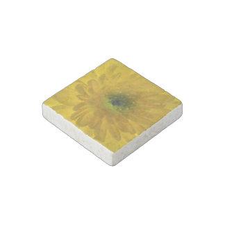 Pretty Yellow Chrysanthemum Stone Magnet