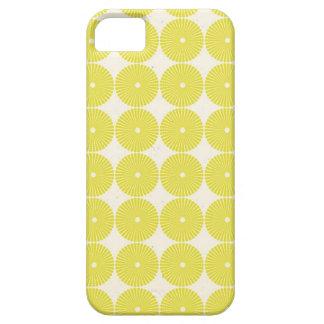Pretty Yellow Circles Summer Citrus Textured Disks iPhone SE/5/5s Case