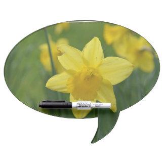 Pretty Yellow Daffodil Dry Erase Whiteboards