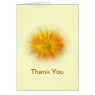 pretty yellow daisy flower greeting card