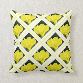 Pretty Yellow Evening Primrose Flowers Throw Pillow
