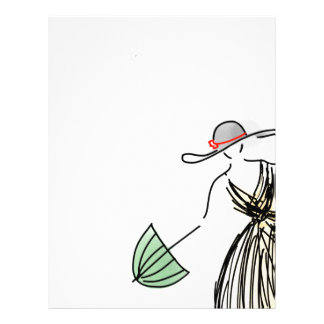 Pretty Yellow Fashionista - Hand Drawn Sketch Letterhead