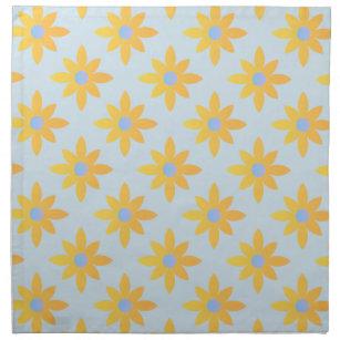 Pretty Yellow Fl Cloth Napkins
