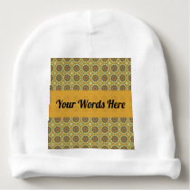 Pretty Yellow Floral Pattern Baby Beanie