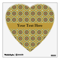 Pretty Yellow Floral Pattern Wall Decal