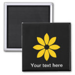 Pretty Yellow Flower 2 Inch Square Magnet